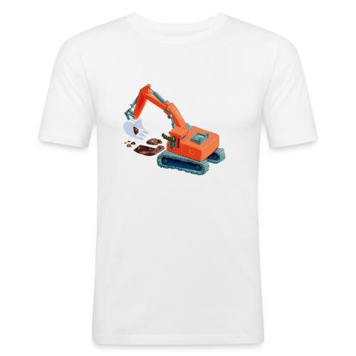 Bernies Bagger - Männer Slim Fit T-Shirt