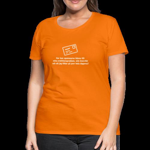 T-shirt dam Premium, Hur kan spammarna... - Premium-T-shirt dam