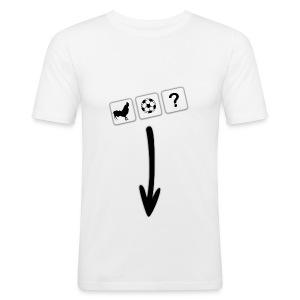 White Arrow T-Shirt - Men's Slim Fit T-Shirt