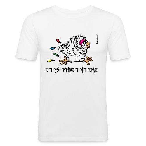 Its Partytime fia dBurschn weiß - Männer Slim Fit T-Shirt
