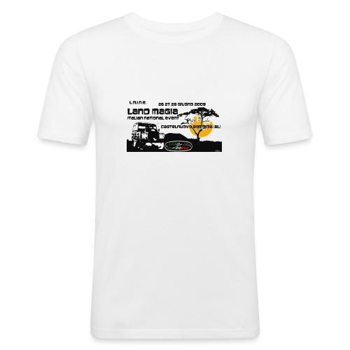 Landmagia Story 2009 - Only White - Maglietta aderente da uomo