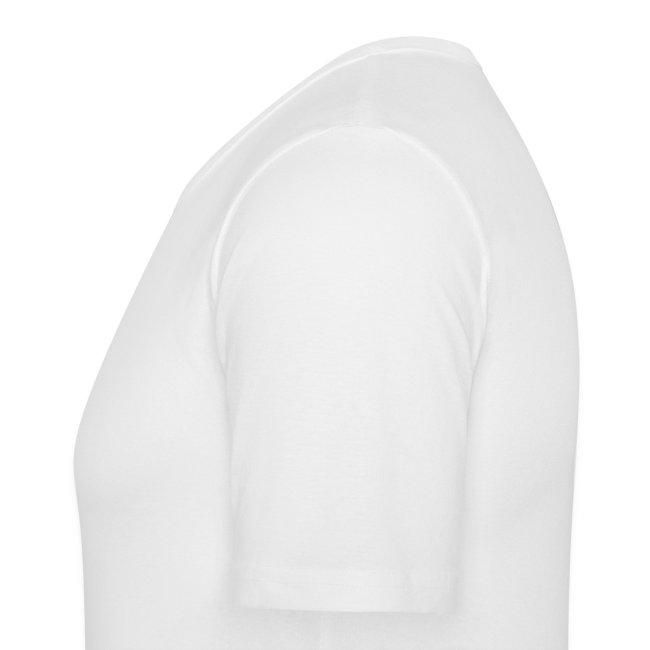 Fan-Shirt SLIM Man weiß  - Druck vorne