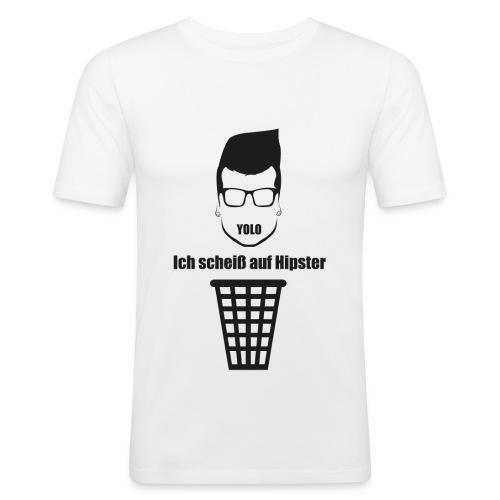 Anti-Hipster - Männer Slim Fit T-Shirt