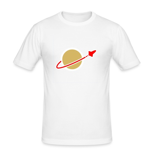 Spaceman weiß - Männer Slim Fit T-Shirt