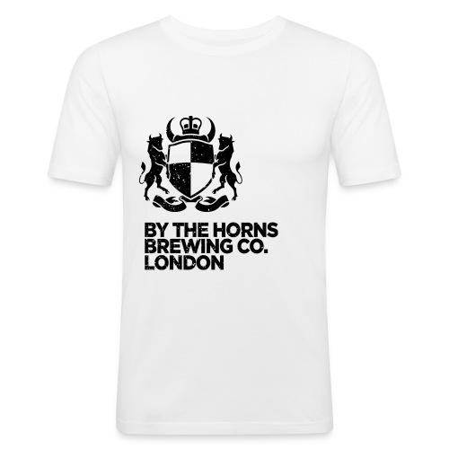 BTH Logo, Black on White - Men's Slim Fit T-Shirt