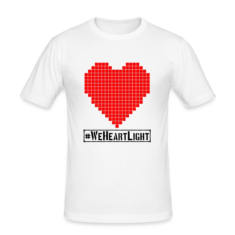 #WeHeartLight - Men's Slim Fit T-Shirt