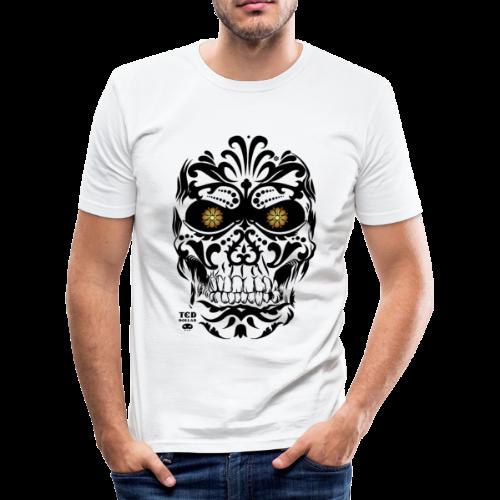 T-shirt près du corps Homme - Designé par Ted Dollar (@teddollar) pour Ted Dollar Clothing Europe #rockabilly #pinup #tattoo #rocknroll #motorcycle #biker #teddollar #gothic #burlesque