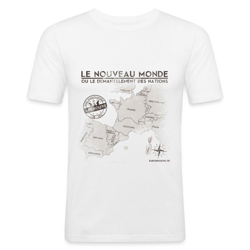 T-SHIRT homme près du corps eurorégions - Tee shirt près du corps Homme