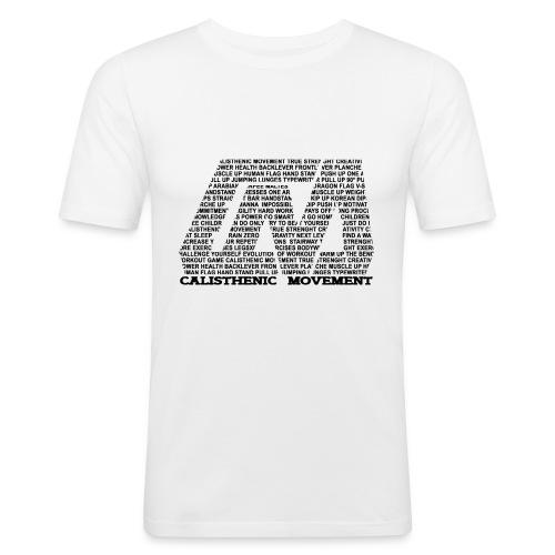 CM Logo aus Text weiß - Männer Slim Fit T-Shirt
