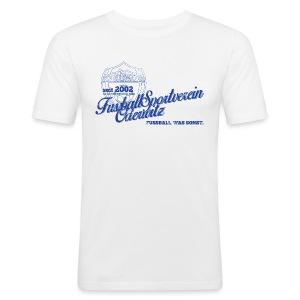Männer Retro Style weiß - Rundhals - Männer Slim Fit T-Shirt