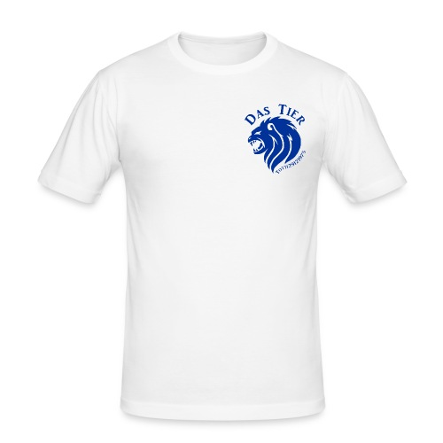 KLEINES WEIßES BLAU - Männer Slim Fit T-Shirt