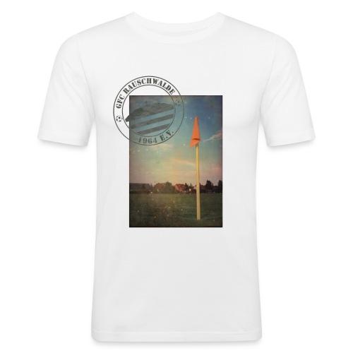 Männer Sportplatz  - Shirt SLIM Weiß - Männer Slim Fit T-Shirt