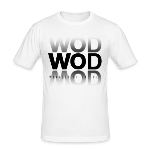 """T-SHIRT HOMME """"WOD Workout Of the Day"""" - T-shirt près du corps Homme"""