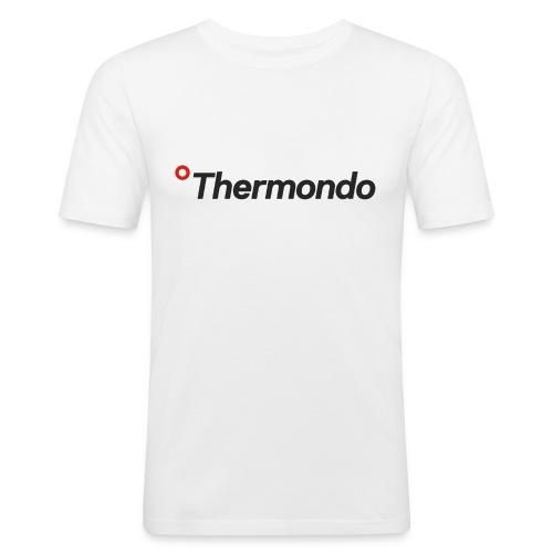 Herren T-Shirt Slim Fit weiß Logo - Männer Slim Fit T-Shirt