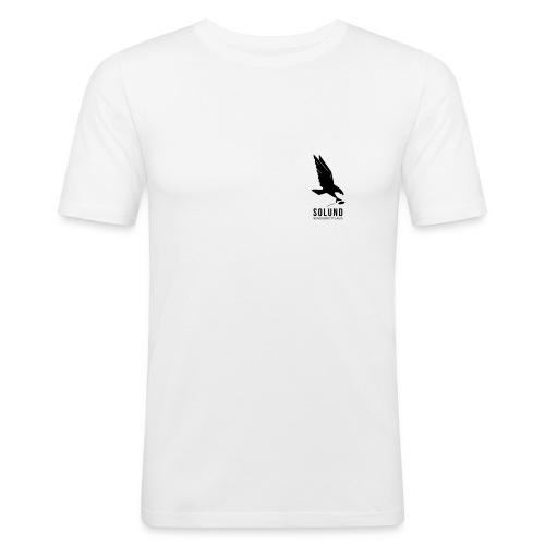 T-skjorte formbetont hvit - Slim Fit T-skjorte for menn