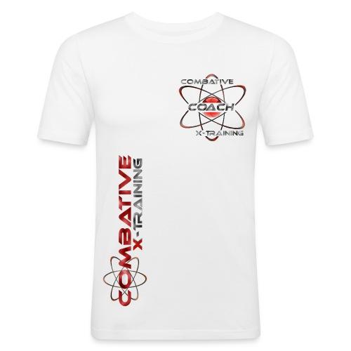 COACHWhiteRed - Männer Slim Fit T-Shirt