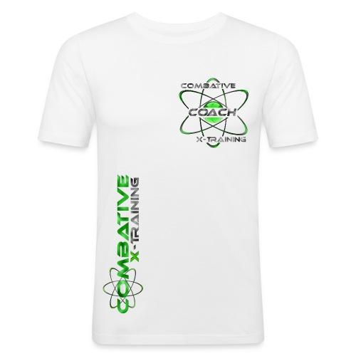 COACH_Whitegreen - Männer Slim Fit T-Shirt