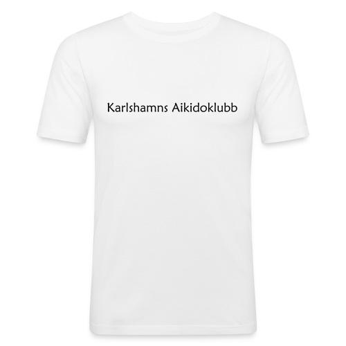 T-shirt i slimfit herrmodell med logga på ryggen - Slim Fit T-shirt herr