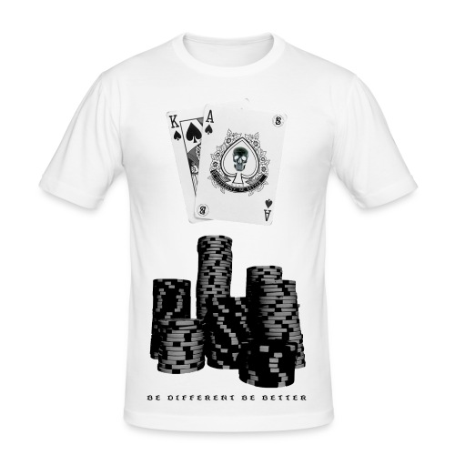 Black Jack Winner - Männer Slim Fit T-Shirt