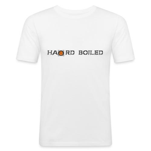 Slim-Fit T-Shirt weiß-orange - Männer Slim Fit T-Shirt