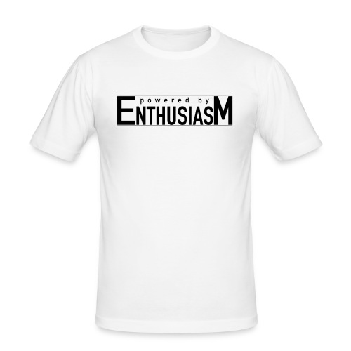 Powered by Enthusiasm - Men's Slim Fit T-Shirt