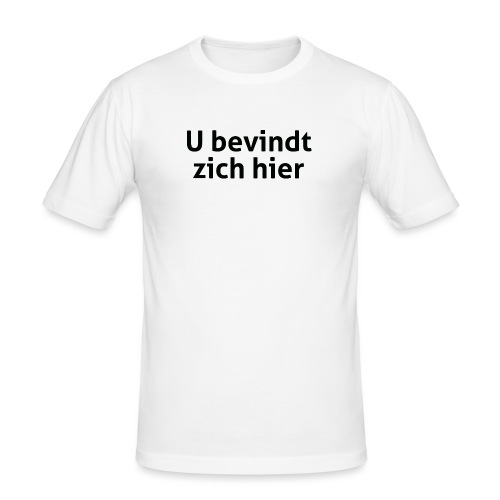 U bevindt zich hier mannen slimfit - slim fit T-shirt
