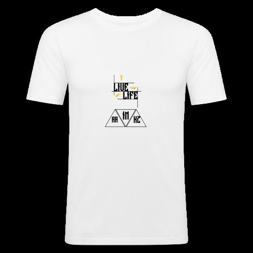 Live Life Rainkz TShirt - Männer Slim Fit T-Shirt
