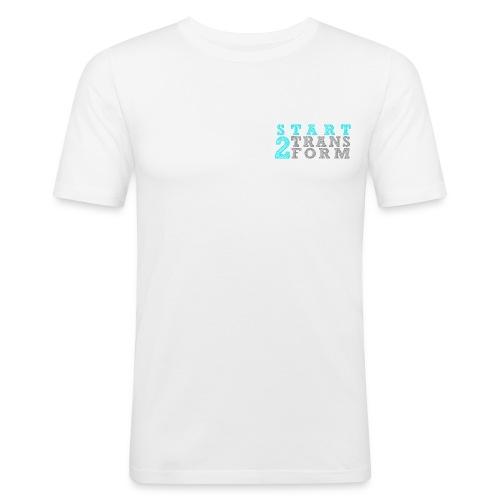 S2T Slim Fit Männer weiss - Männer Slim Fit T-Shirt
