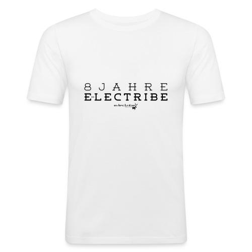 8 Jahre e-lectribe – Print black - Männer Slim Fit T-Shirt