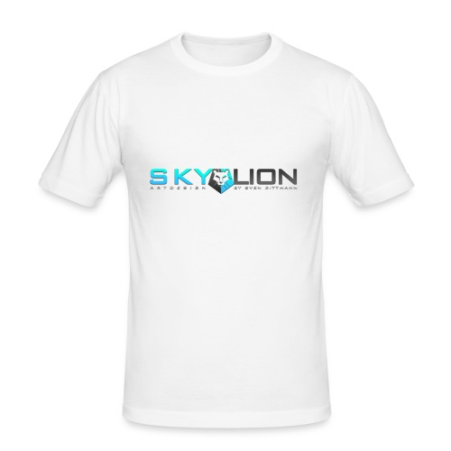Skylionartdesign Logo - Slim fit - Männer Slim Fit T-Shirt