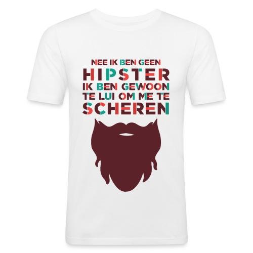 Hipster mannen slimfit - slim fit T-shirt