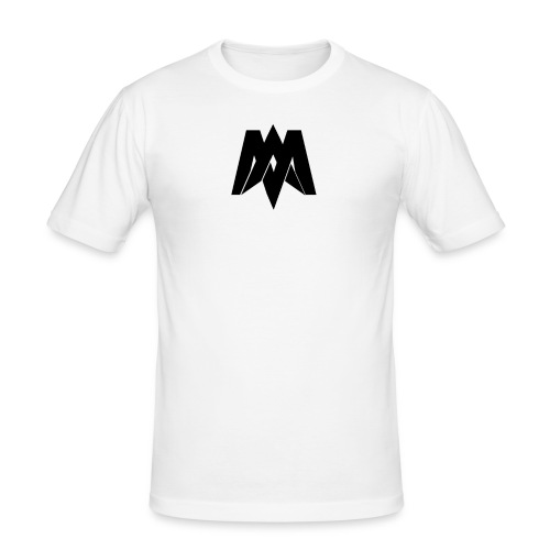 Mantra Fitness Slim Fit T-Shirt (White) - Men's Slim Fit T-Shirt