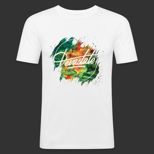 TSHIRT DEVASTATE PAINT STAIN - T-shirt près du corps Homme