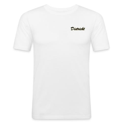 Districkt Brand Name Slim T-Shirt Design - Men's Slim Fit T-Shirt