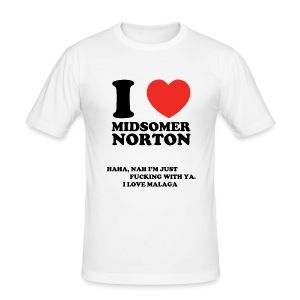 I Love Midsomer Norton - Men's Slim Fit T-Shirt