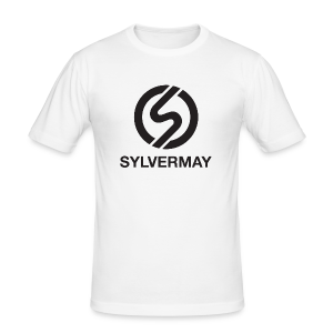 "T-shirt ""S"" by Sylvermay collection (Blanc/White) - Men's Slim Fit T-Shirt"