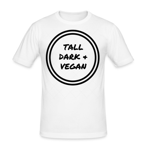 Tall Dark & Vegan White T-shirt - Men's Slim Fit T-Shirt