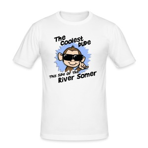 The Coolest Dude this Side of the River Somer - Men's Slim Fit T-Shirt