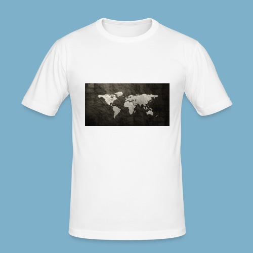 Weltkarte - Männer Slim Fit T-Shirt