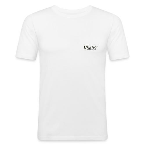 Verify Slim Fit Logo T-Shirt with Backprint - Men's Slim Fit T-Shirt