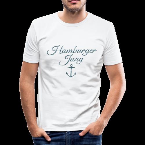 Hamburger Jung Anker Classic (Vintage Blau) Slim Fit T-Shirt - Männer Slim Fit T-Shirt