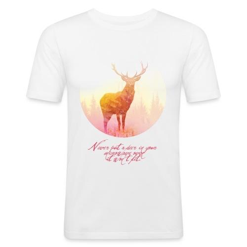 Deer mannen slimfit - slim fit T-shirt