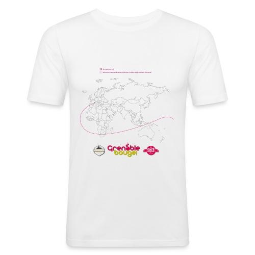 Tee shirt destinations - T-shirt près du corps Homme