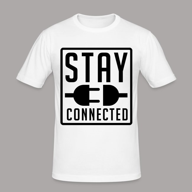 STAY CONNECTED / T-SHIRT SLIMFIT MEN #1