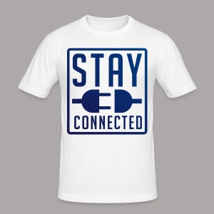 STAY CONNECTED / T-SHIRT MEN #2 - slim fit T-shirt