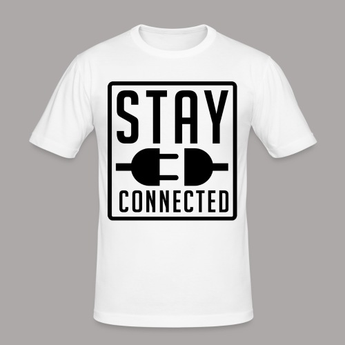 STAY CONNECTED / T-SHIRT MEN #1 - slim fit T-shirt