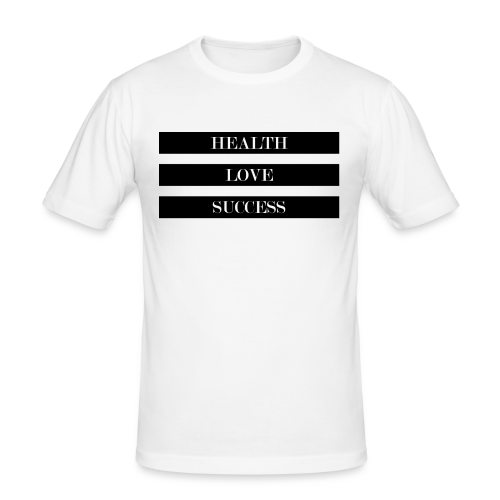 HEALTH LOVE SUCCESS - Männer Slim Fit T-Shirt