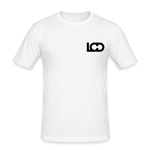 LUCID LOGO CORNER No.1 WHITE - Men's Slim Fit T-Shirt