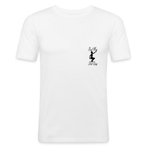 Real Men Slut Drop Black Silhouette Mens Tee - Men's Slim Fit T-Shirt
