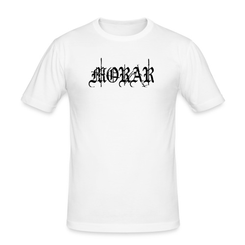 Morar - Logo; white - Men's Slim Fit T-Shirt
